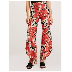 Free People FP One Red Lucina Floral Hippie Pants
